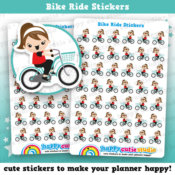 42 Cute Bike Ride Planner Stickers