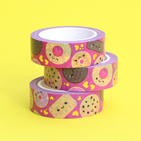 Gold Foil Biscuits and Cookies Washi Tape