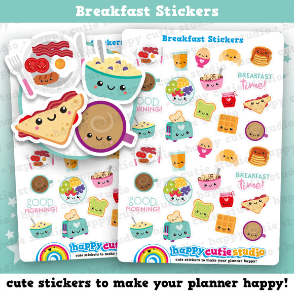 34 Cute Breakfast Planner Stickers