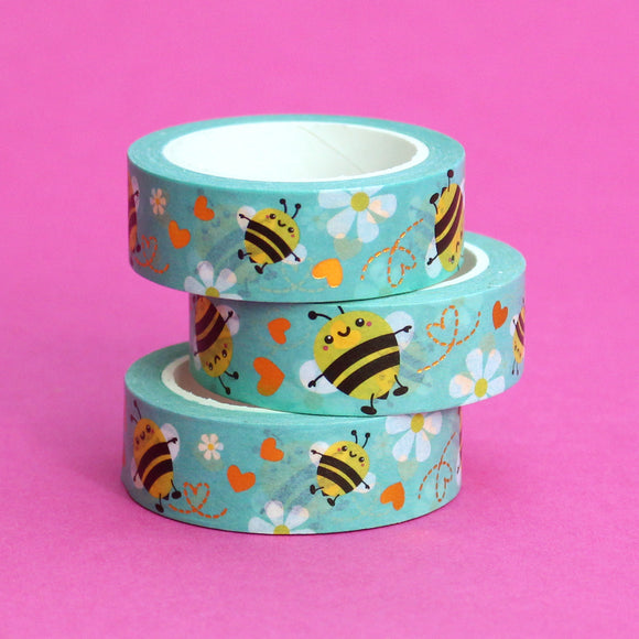 Gold Foil Busy Bee Washi Tape