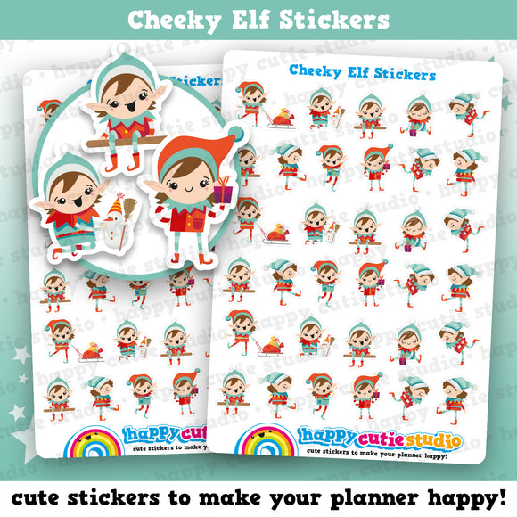 Cheeky Elf Girl Planner Stickers