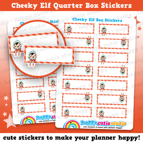 Cheeky Elf Girl Quarter Box Planner Stickers