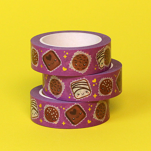 Gold Foil Chocoholic Washi Tape