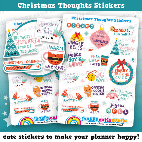 16 Christmas Thoughts Planner Stickers