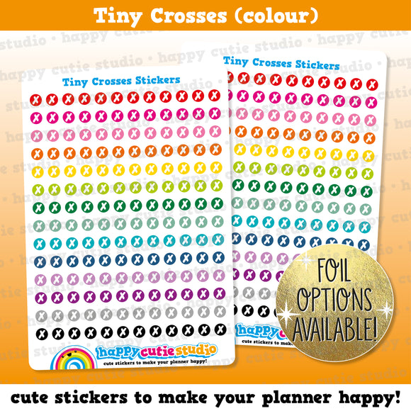 140 Cute Colourful Tiny Crosses/Functional/Practical Planner Stickers