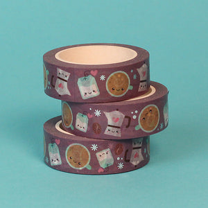 Silver Foil Pop the Kettle On Washi Tape