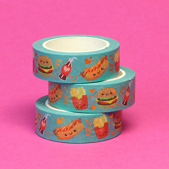 Gold Foil Fast Food Washi Tape