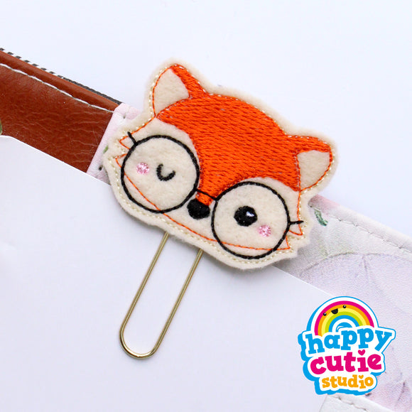 Happy Cutie Studio Ginger the Fox Planner Clip/Kawaii/Cute