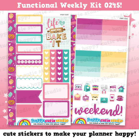 Functional Personal Size Weekly Kit 0245 Planner Stickers/Kawaii/Cute Stickers