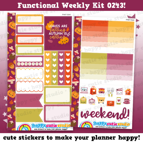 Functional Personal Size Weekly Kit 0243 Planner Stickers/Kawaii/Cute Stickers