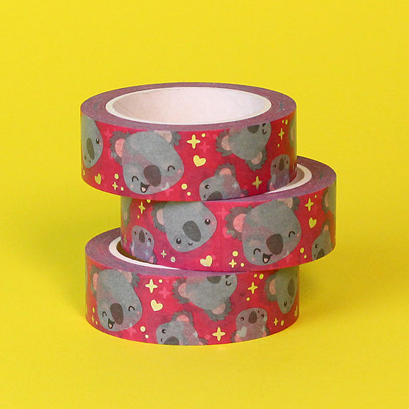 Silver Foil Koko The Koala Washi Tape