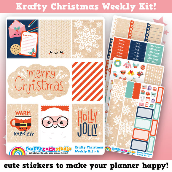 Krafty Christmas Weekly Kit Planner Stickers