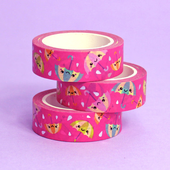 Silver Foil Rainy Day Washi Tape