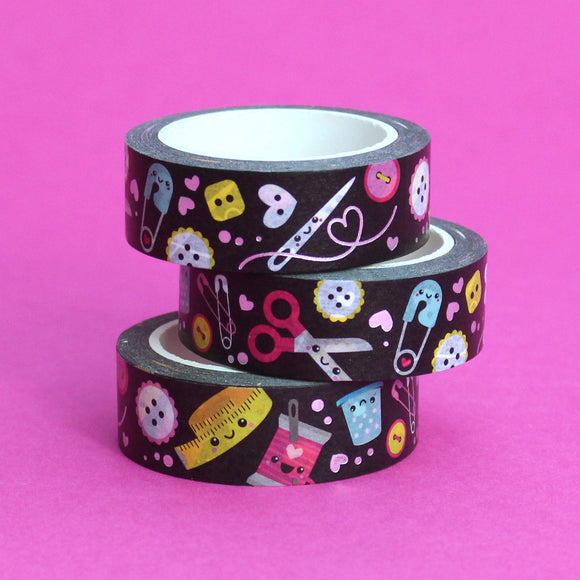 Silver Foil Sew Cute Washi Tape