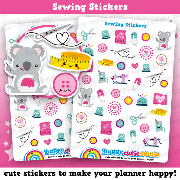 43 Cute Sewing Planner Stickers