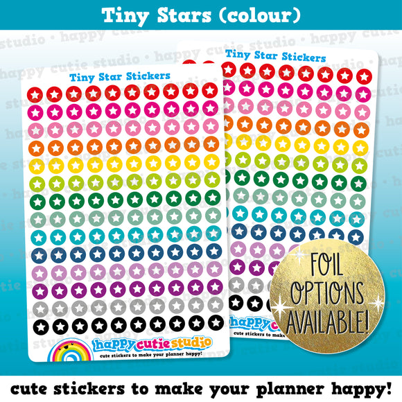 140 Cute Colourful Tiny Stars/Functional/Practical Planner Stickers