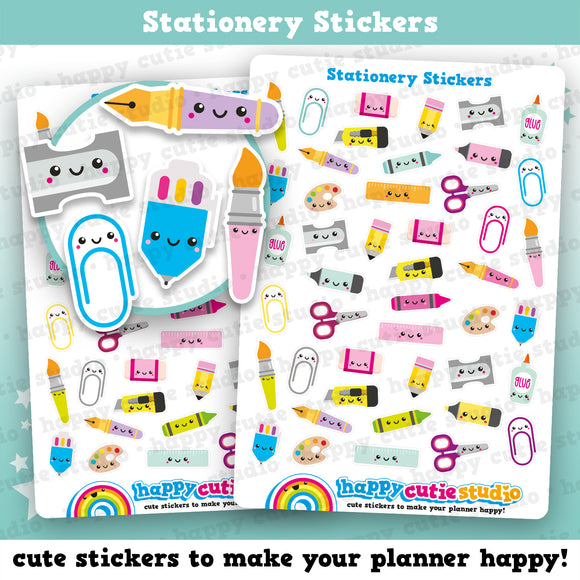 44 Cute Stationery Planner Stickers
