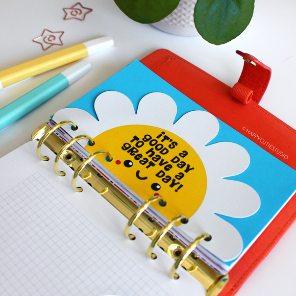 Happy Flower Personal Planner Divider/Dashboard/Kawaii/Cute