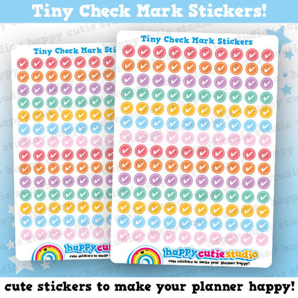 140 Cute Colourful Tiny Ticks/CheckMarls/Functional/Practical Planner Stickers
