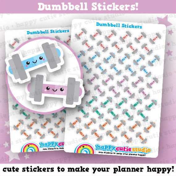 55 Cute Dumbbell/Weights/Gym/Exercise/Work Out Planner Stickers