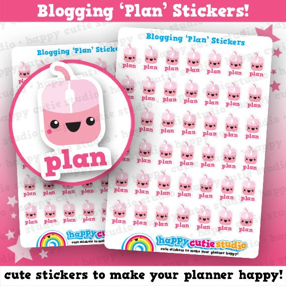 42 Cute Blogger / Blogging / Plan Planner Stickers