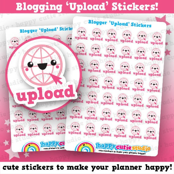 42 Cute Blogger / Blogging / Upload Planner Stickers