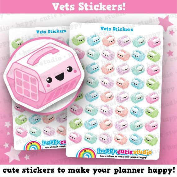 48 Cute Vets/Pets/Animal Stickers