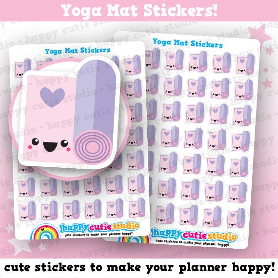 42 Cute Yoga/Meditation/Pilates/Gym/Exercise/Work Out Planner Stickers