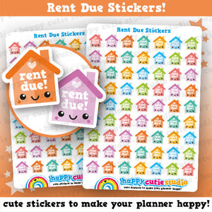 63 Cute Rent Due Planner Stickers