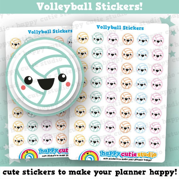 48 Cute Volleyball/Sport Planner Stickers