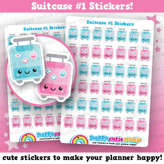 42 Cute Suitcase/Lugggage/Travel/Vacation/Holiday Planner Stickers