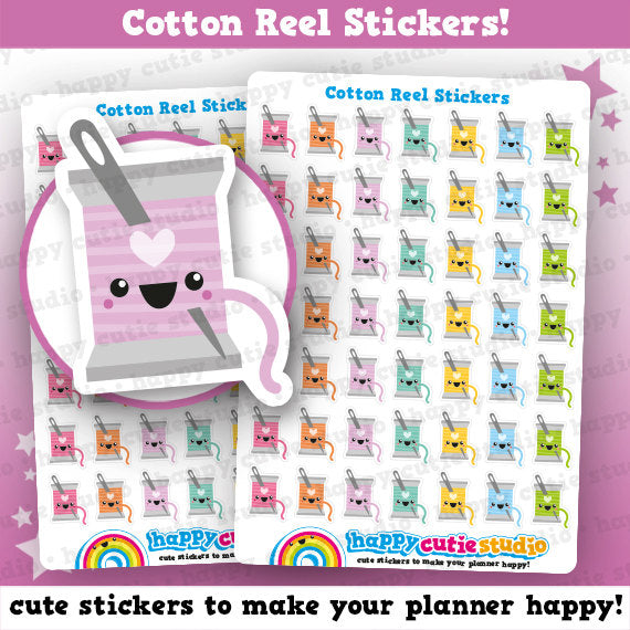 49 Cute Cotton Reel/Sewing/Craft Stickers