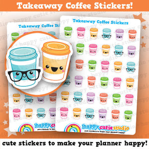 36 Cute Takeaway Coffee Cup Planner Stickers