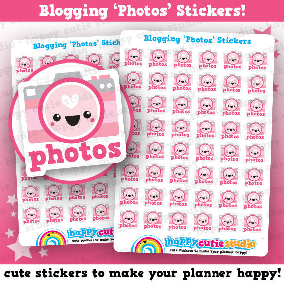 48 Cute Blogger / Blogging / Photos Planner Stickers