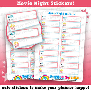 20 Cute Movie Night/Popcorn/Cinema/Film Planner Stickers