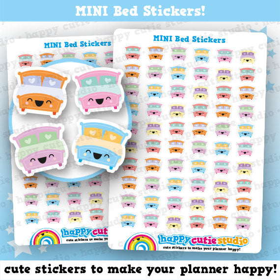 60 Cute MINI Bed Planner Stickers
