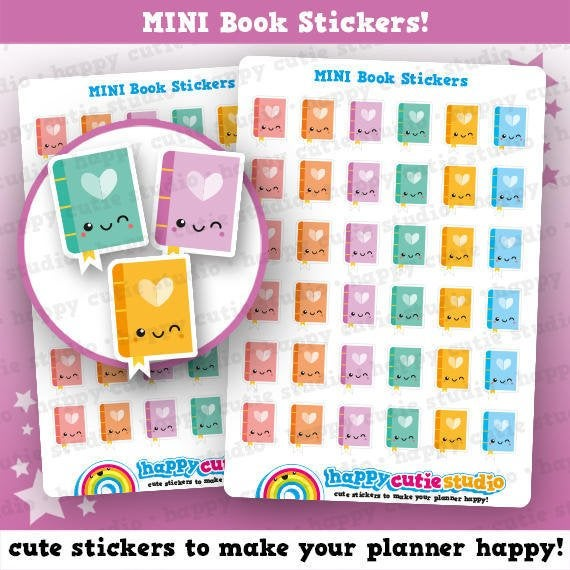36 Cute Book/Reading Planner Stickers