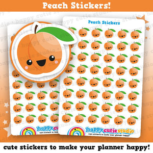 48 Cute Peach/Fruit/Health Planner Stickers