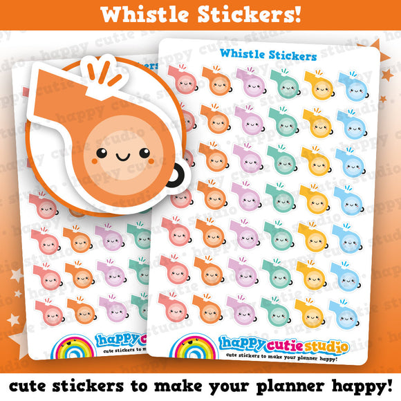 42 Cute Whistle/Sport Planner Stickers