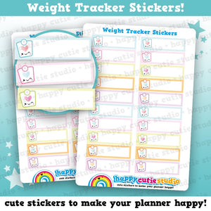 20 Cute Weight Tracker/Scales Planner Stickers