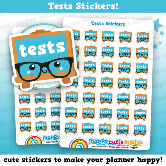 35 Cute Tests/Study/College/University/School Planner Stickers