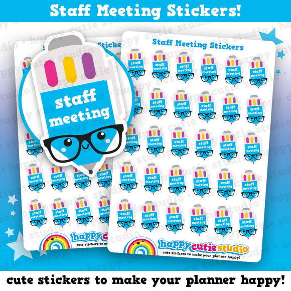 35 Cute Staff Meeting/School Planner Stickers