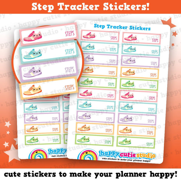 20 Cute Step Tracker/Exercise Planner Stickers