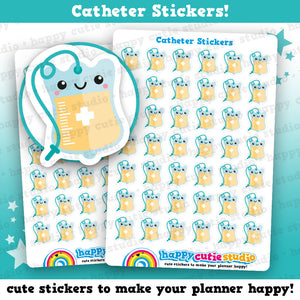 42 Cute Catheter/Medical/Health Planner Stickers