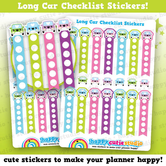 14 Cute Car Checklist Planner Stickers