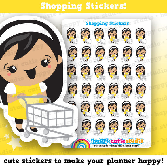 36 Cute Shopping/Groceries/Food/ Girl Planner Stickers