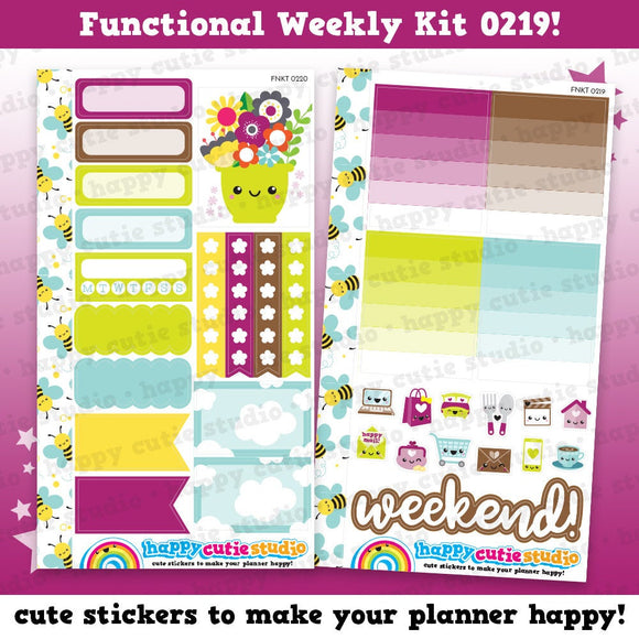 Functional Personal Size Weekly Kit 0219 Planner Stickers/Panda/Kawaii/Cute Stickers