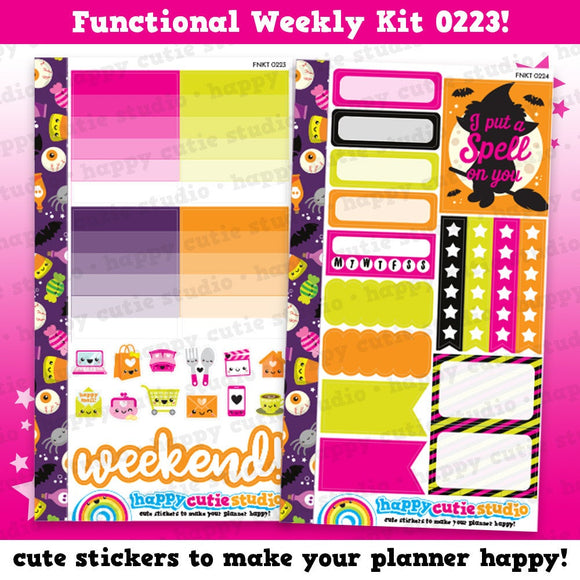 Functional Personal Size Weekly Kit 0223 Planner Stickers/Panda/Kawaii/Cute Stickers