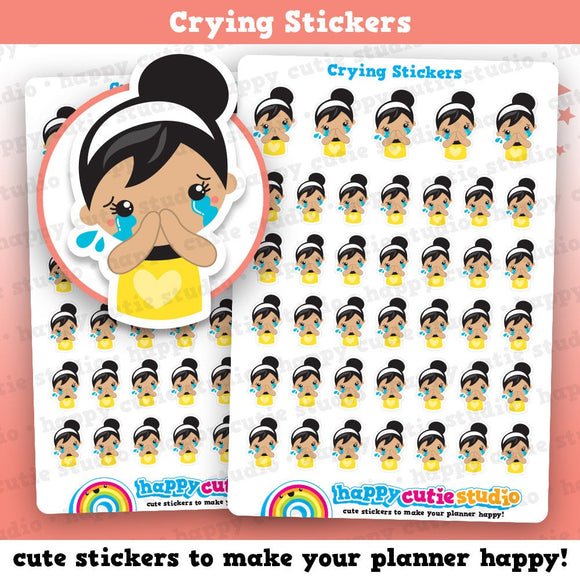 40 Cute Crying/Sad/Emotional/Bad Day Girl Planner Stickers