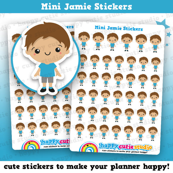 41 Cute Mini HCS Boys Happy/Toddler/Child/Kid Planner Stickers